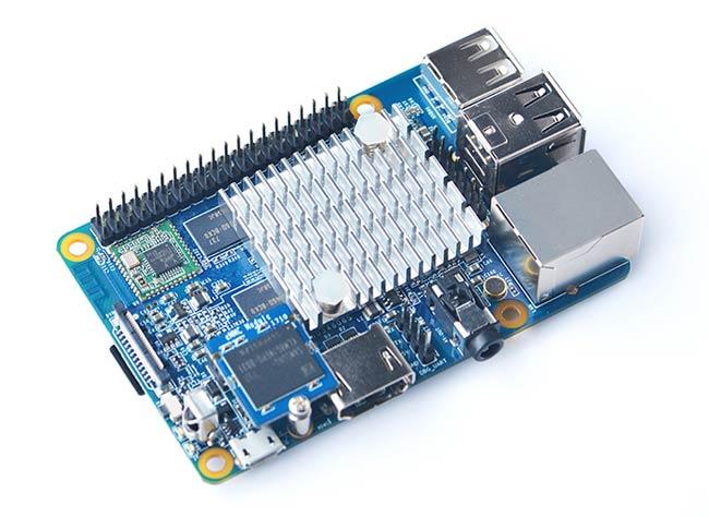 NanoPi K1 Plus با هیت سینک