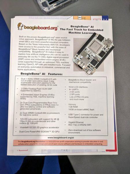 BeagleBone AI در نمایشگاه EW2019